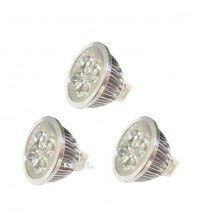 Generic LED 4W MR16 fitting 12V DC - Paket 3 Pcs