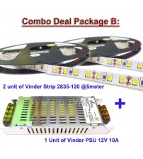 Paket 2 Roll Vinder Strip 2835-120 dan 1 Unit Power Supply 10A