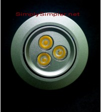 "Generic Ceiling Light 3W, 2.5"" Bulat"